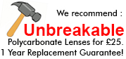 Choose polycarbonate lens