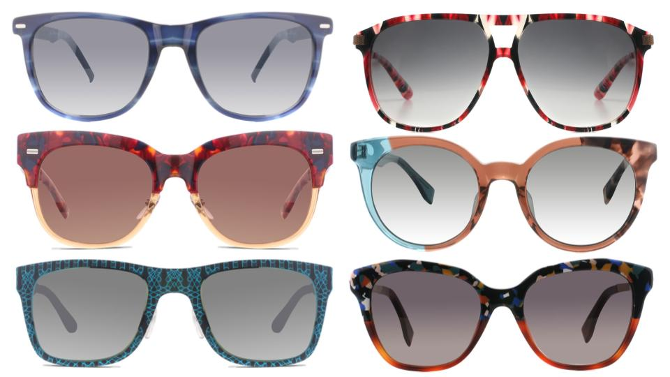 abstract pattern sunglasses