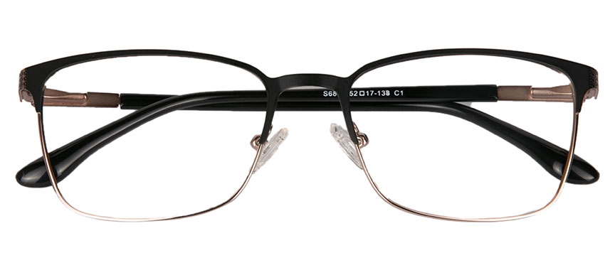 Semi-rimless glasses