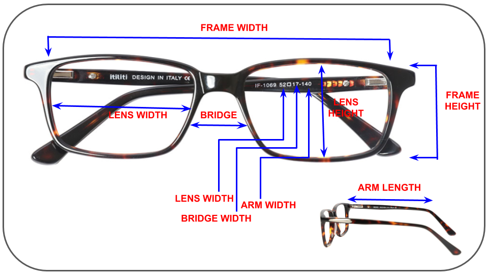 eyeglasses measurements